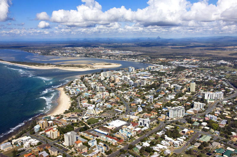 Aerial view of Caloundra, Sunshine Coast, Queensland, Australia