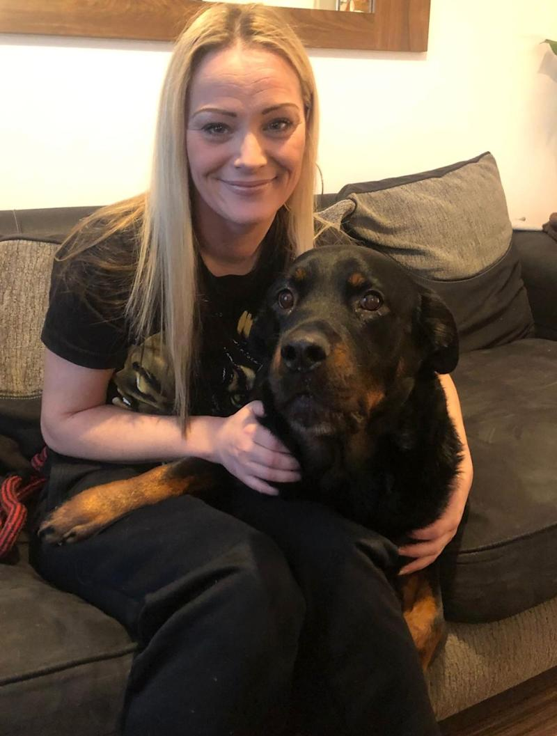 Barbara Whitehead with her dog Zeus (Photo: First Choice Homes Oldham)