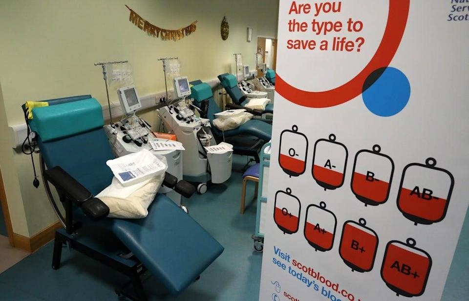 There are fears of shortages of blood products because of the fuel crisis (Andrew Milligan/PA) (PA Archive)