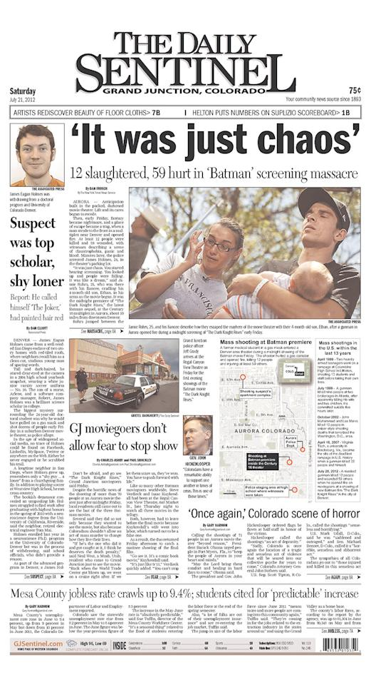 The Daily Sentinel, Grand Junction, Colo., July 21, 2012
