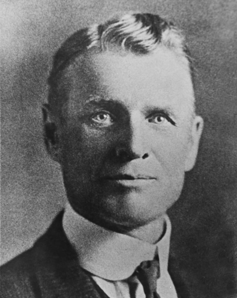 "This undated photo of William T. Phillips was taken from the Larry Pointer Collection, American Heritage Center, University of Wyoming in Laramie, Wyo. A collector of rare books and documents says he has obtained a manuscript containing new evidence that Butch Cassidy wasn't killed in a 1908 shootout in Bolivia but returned to the U.S. and lived on in Washington State for almost three decades. The original handwritten manuscript of ""Bandit Invincible: The Story of Butch Cassidy"" dates to 1934 and is twice as long as an obscure book of the same title by William T. Phillips, who died in Spokane in 1937. (AP Photo/Laramie Daily Boomerang, Andrew Carpenean)"