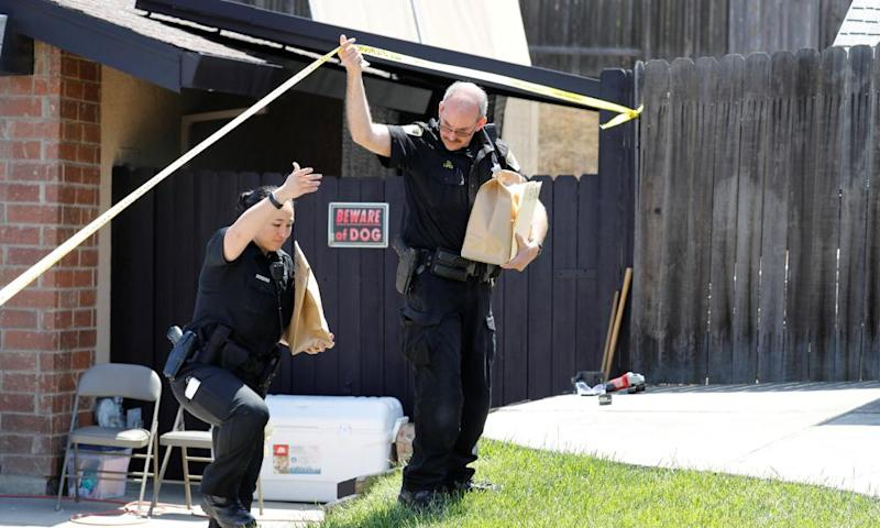 Police remove items from the home of Joseph James Deangelo, arrested in the Golden State Killer case.