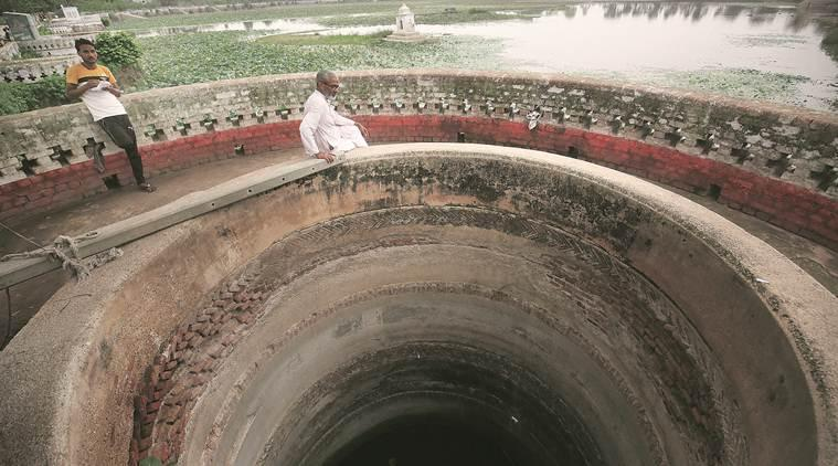 bundelkhand water conservation, drought bundelkhand, water crisis, water conservation wells, gureh village, banda, mgnregs, india news, indian express, latest news