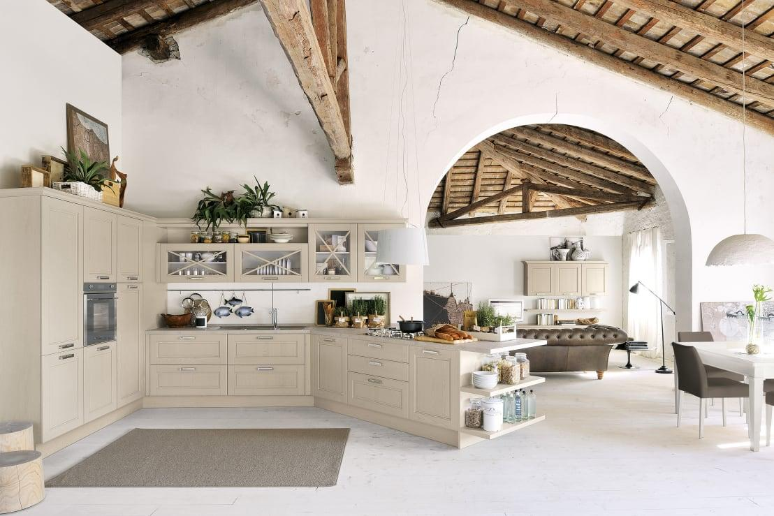<p>If you can combine old and new interior design styles together, the result can be a beautifully shabby chic finish. Think about a modern kitchen with exposed roof beams of hand-finished plaster walls and you'll be on the right track.</p>  Credits: homify / Studio Ferriani