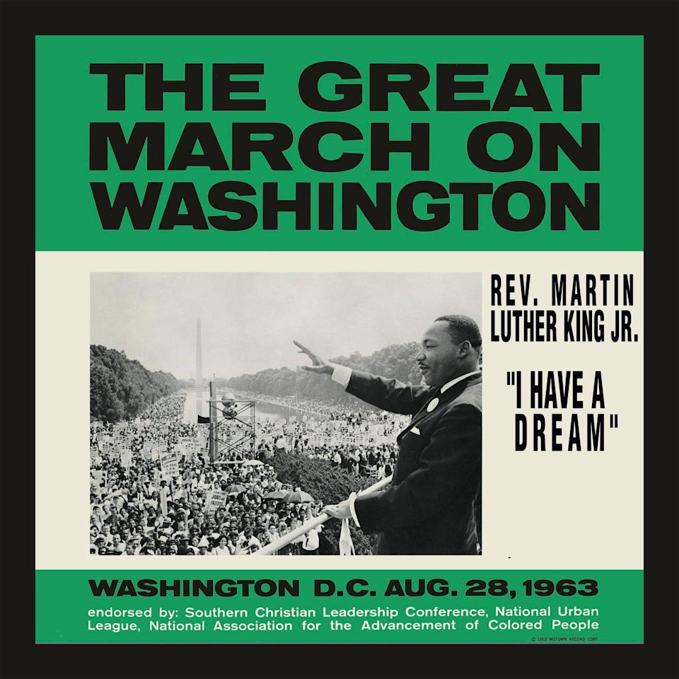 "Cover image of the new ""I Have a Dream"" digital single, released by Motown Records on the 57th anniversary of Martin Luther King Jr.'s March on Washington."