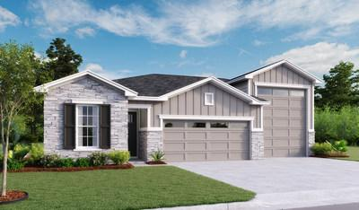 The Bronze plan at Seasons at Deerfield Meadows in St. Augustine offers an attached RV Garage.
