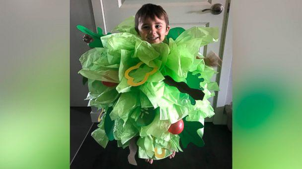 PHOTO: Danielle Bevens' son wears a salad Halloween costume. (Danielle Bevens)