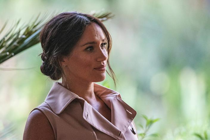 Duchess Meghan of Sussex in Johannesburg, South Africa on Oct. 2, 2019.