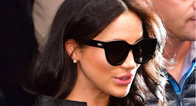 Meghan Markle's sell-out sunglasses are back in stock. (Getty Images)