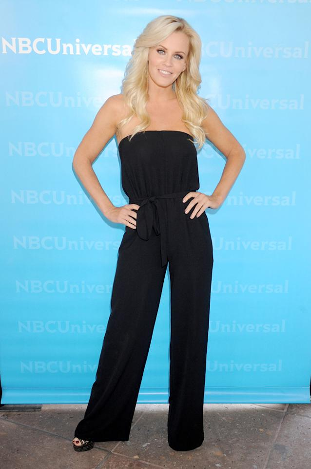 """Jenny McCarthy (""""<a href=""""http://tv.yahoo.com/love-in-the-wild/show/46933"""">Love in the Wild</a>"""") arrives at NBC Universal's 2012 Summer Press Day at The Langham  Huntington Hotel and Spa on April 18, 2012 in Pasadena, California."""