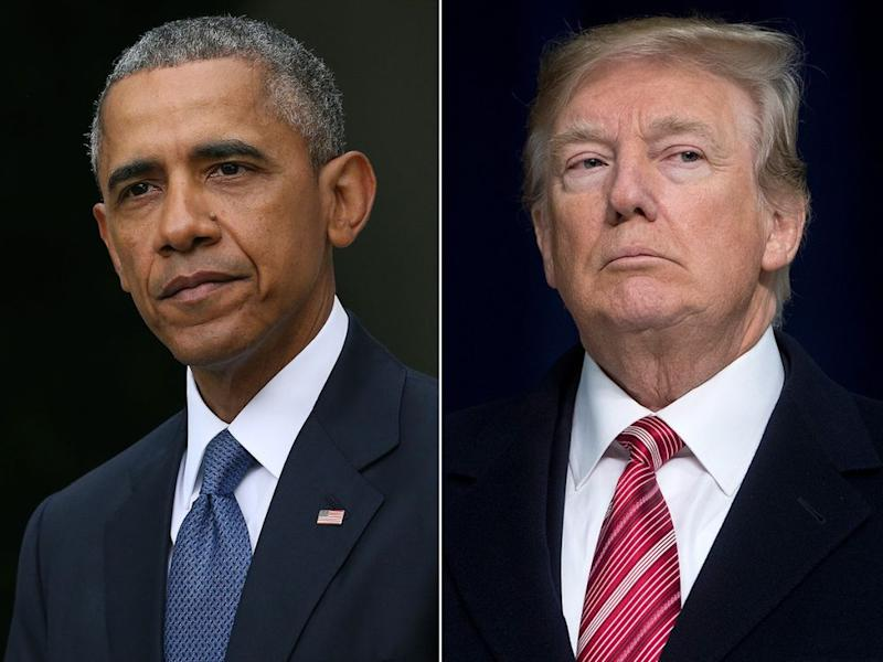 Barack Obama and Donald Trump