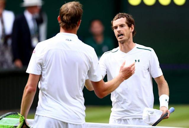 """<a class=""""link rapid-noclick-resp"""" href=""""/olympics/rio-2016/a/1211276/"""" data-ylk=""""slk:Andy Murray"""">Andy Murray</a> lost on Wednesday, but that didn't stop him for taking a stand in his post match presser. (Getty Images)"""