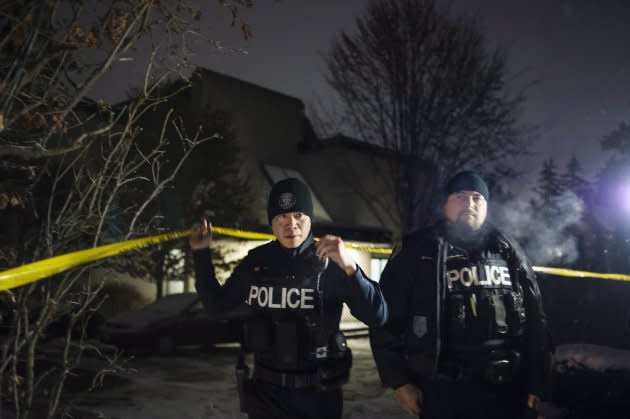 Police secured the home of Apotex founder Barry Sherman and wife, Honey Sherman after they were found dead on Friday.