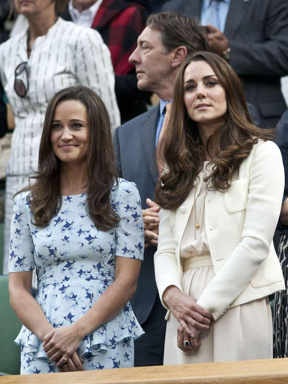 "<p>Pippa Middleton was thrown into the spotlight after serving as her sister's maid of honor in the 2011 royal wedding. Although the Middleton sisters have always closely resembled one another, Pippa has picked up on some royal styling cues from her big sis in recent years. </p><p><strong>RELATED</strong>: <a href=""https://www.goodhousekeeping.com/life/a44219/kate-and-pippa-middleton-relationship/"" rel=""nofollow noopener"" target=""_blank"" data-ylk=""slk:6 Things You Didn't Know About Kate and Pippa Middleton's Relationship"" class=""link rapid-noclick-resp"">6 Things You Didn't Know About Kate and Pippa Middleton's Relationship</a></p>"