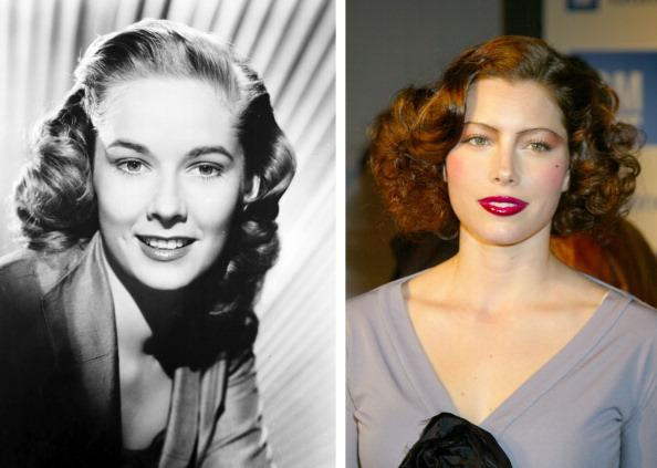 "(FILE PHOTO) In this composite image a comparison has been made between actresses Vera Miles (L) and Jessica Biel. Actress Jessica Biel will play actress Vera Miles in a film biopic about filmmaker Alfred Hitchcock entitled ""Hitchcock."" ***LEFT IMAGE*** UNSPECIFIED: Vera Miles in the 1950's. (Photo by Film Favorites/Getty Images)  ***RIGHT IMAGE*** HOLLYWOOD - March 18:  Jessica Biel appears at GM Ten Celebrates 75 Years of Film with Celebrity Fashion Show on March 18, 2003 in Hollywood, California.  (Photo by Jim Smeal/WireImage)"
