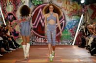 After the gloom of lockdown, designers brought colour and optimism to their collections (AFP/Tolga Akmen)