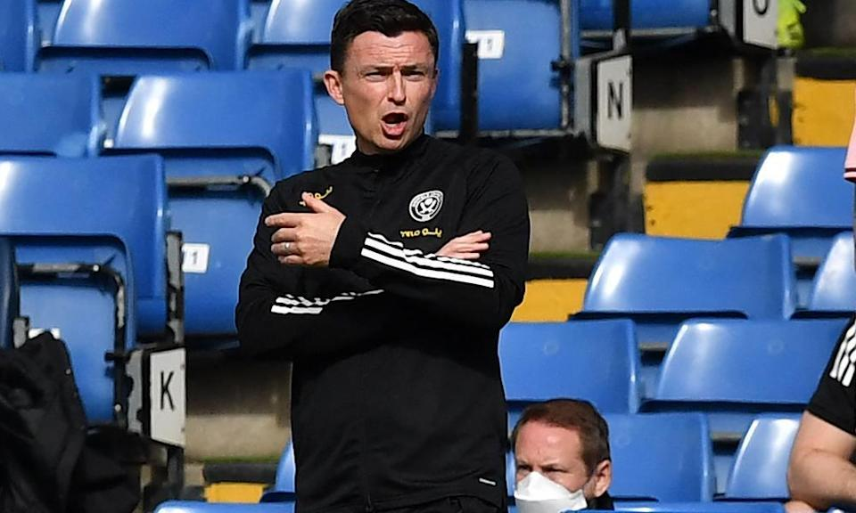 Paul Heckingbottom has been unable to even slow Blades' slip down to the Championship.