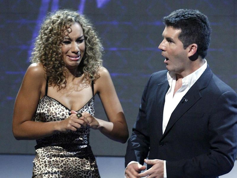 Leona Lewis with Simon Cowell during her big win of 2006: Shutterstock