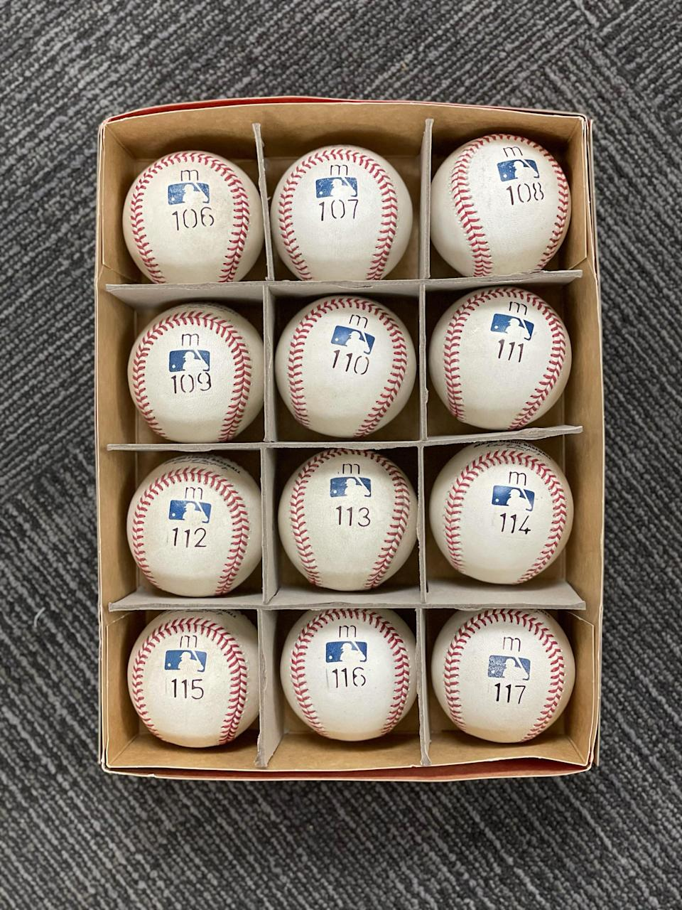 MLB used special baseballs for Miguel Cabrera's plate appearances after he reached 499 home runs. Cabrera crushed his 500th home run —the m-113 ball —on Sunday, Aug. 22, 2021 in Toronto.