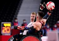 Britain's wheelchair rugby team became the first Europeans to take a Paralympic gold (AFP/Behrouz MEHRI)