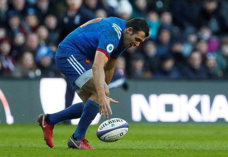 Rugby Union - Six Nations Championship - Scotland vs France - BT Murrayfield, Edinburgh, Britain - February 11, 2018 France's Lionel Beauxis knocks on to concede a penalty REUTERS/Russell Cheyne