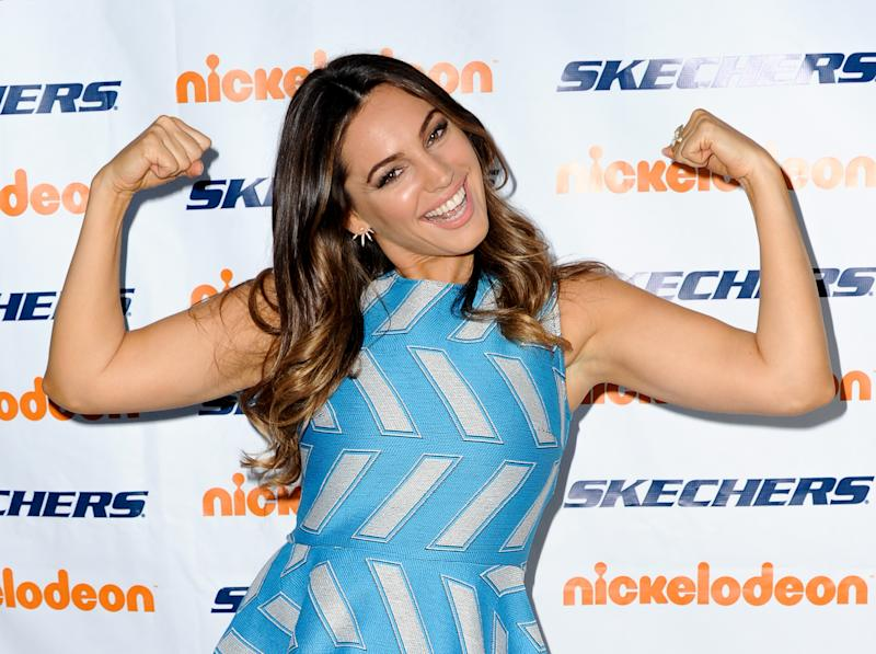 She revealed her two-stone weight loss. (Getty Images)