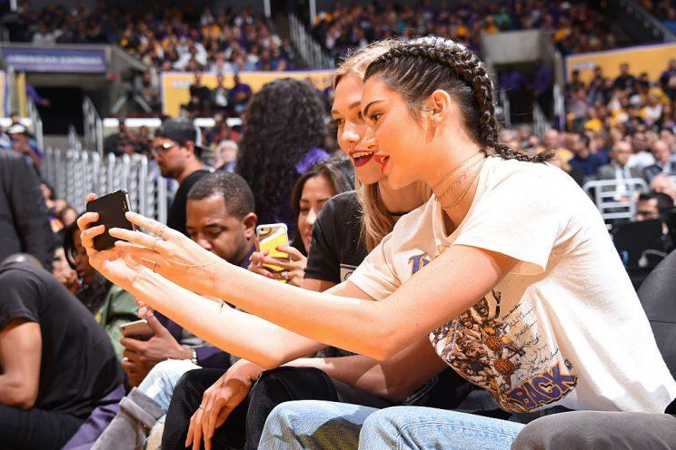 Kendall Jenner takes a selfie. (Photo: Getty Images)
