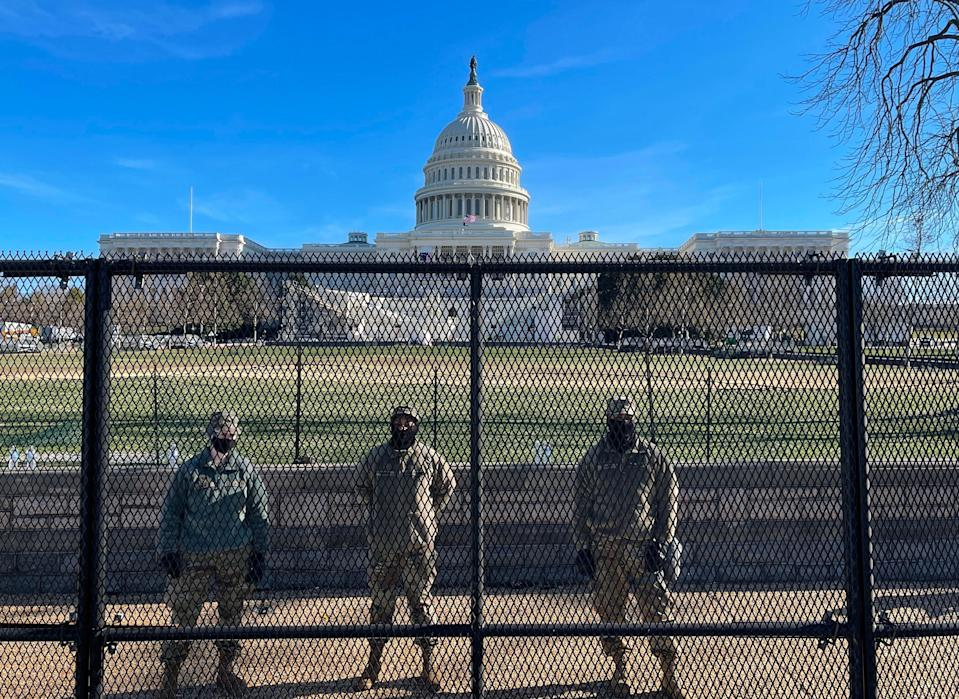<p>Security concerns will see the National Mall closed for the inauguration of Joe Biden</p> (AFP via Getty Images)