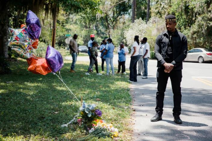 FILE PHOTO: Supporters of the Georgia NAACP protest shooting death in Brunswick