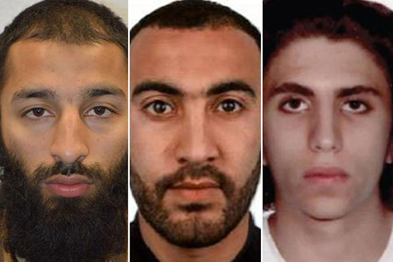 On steroids: Khuram Butt, Rachid Redouane and Youssef Zaghba: Metropolitan Police/PA