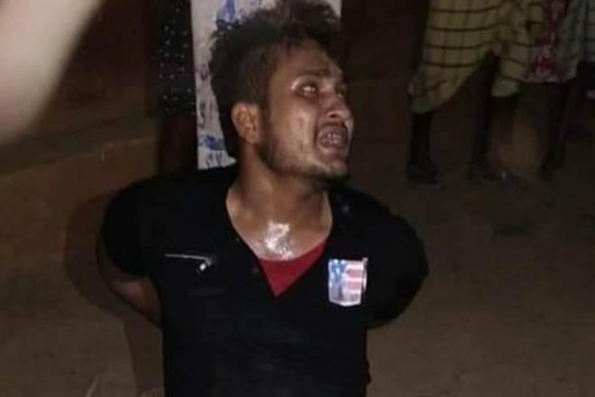 Alam, suspected of stealing a bike, was tied to a pole and beaten up by a mob that allegedly forced him to say