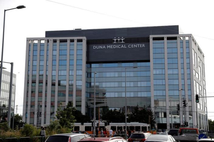 FILE PHOTO: The new building of the private hospital Duna Medical Centre is seen under construction in Budapest