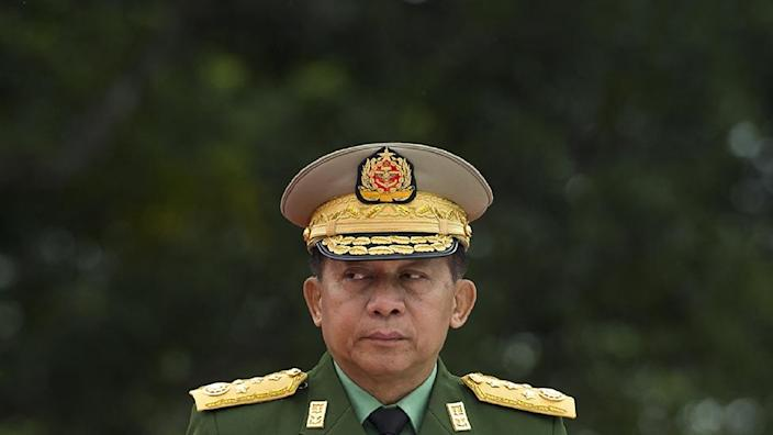 Min Aung Hlaing, pictured in 2018