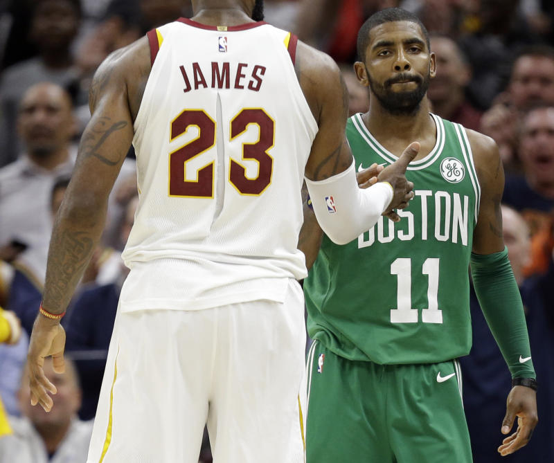 6ca9907dfea Kyrie will not stand for your LeBron ejection questions