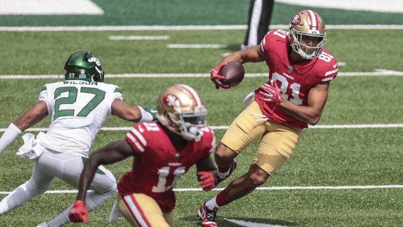 Jordan Reed scores first TDs in two years in his 49ers starter debut