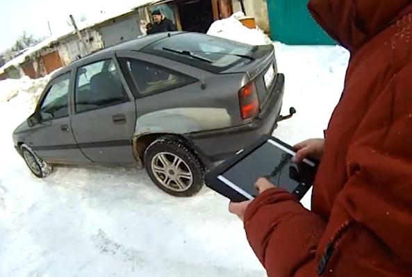 Russian boffins create iPad-controlled car
