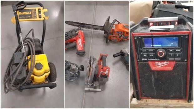 Calgary police are looking for the owners of stolen tools recovered in Douglasdale. (Calgary Police Service - image credit)