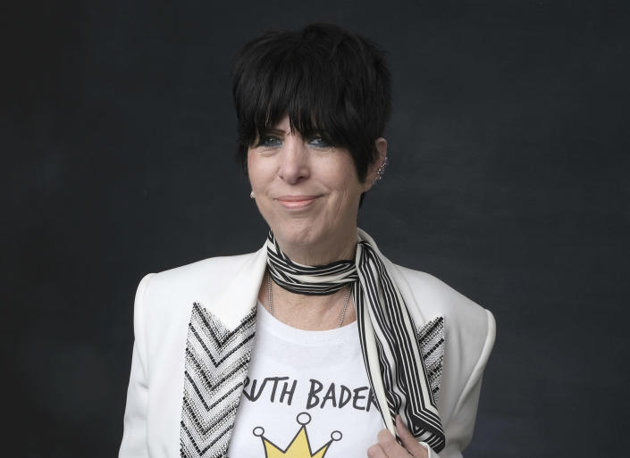 """FILE - This Feb. 4, 2019 file photo shows Diane Warren at the 91st Academy Awards Nominees Luncheon in Beverly Hills, Calif. Warren was nominated for an Oscar for best original song for """"I'm Standing With You"""" from """"Breakthrough."""" (Photo by Chris Pizzello/Invision/AP, File)"""