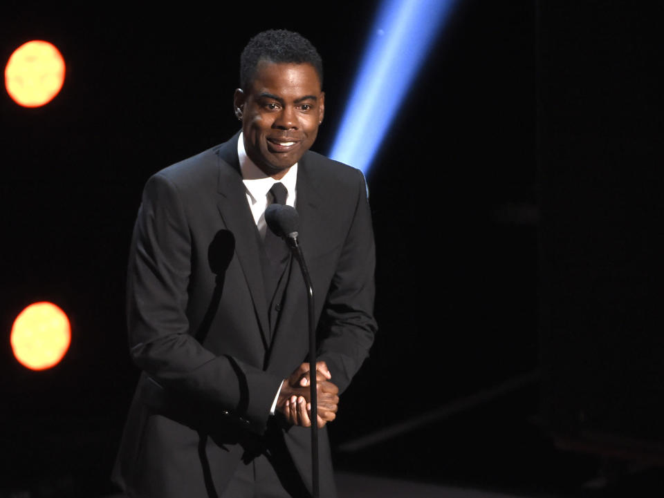 FILE - Chris Rock presents the award for outstanding comedy series at the 50th annual NAACP Image Awards on March 30, 2019, in Los Angeles. Rock turns 56 on Feb. 7. (Photo by Chris Pizzello/Invision/AP, File, File)