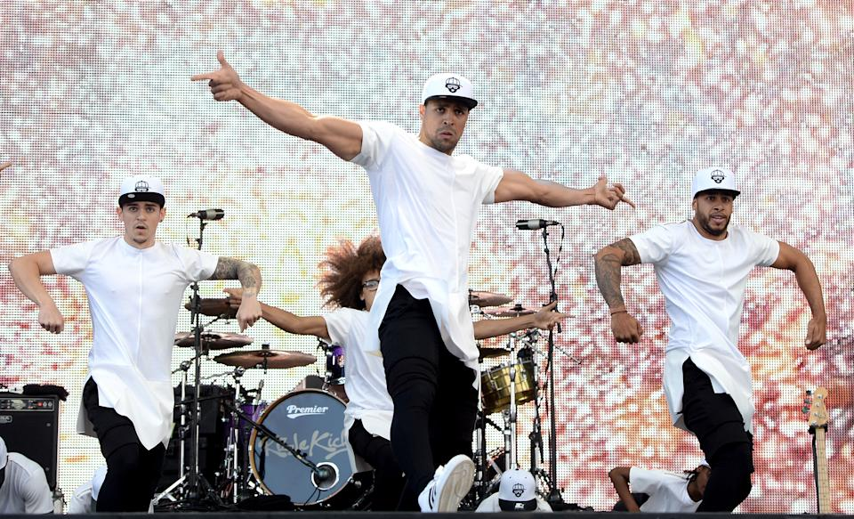 LONDON, ENGLAND - SEPTEMBER 14:  Ashley Banjo and Diversity perform onstage during the Invictus Games Closing Concert at the Queen Elizabeth Olympic Park on September 14, 2014 in London, England.  (Photo by Samir Hussein/WireImage)