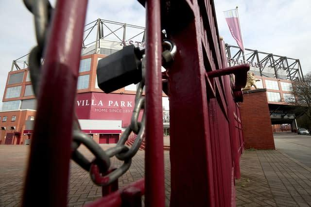 The gates will be locked for fans for the rest of the 2019-20 Premier League season (Nick Potts/PA)