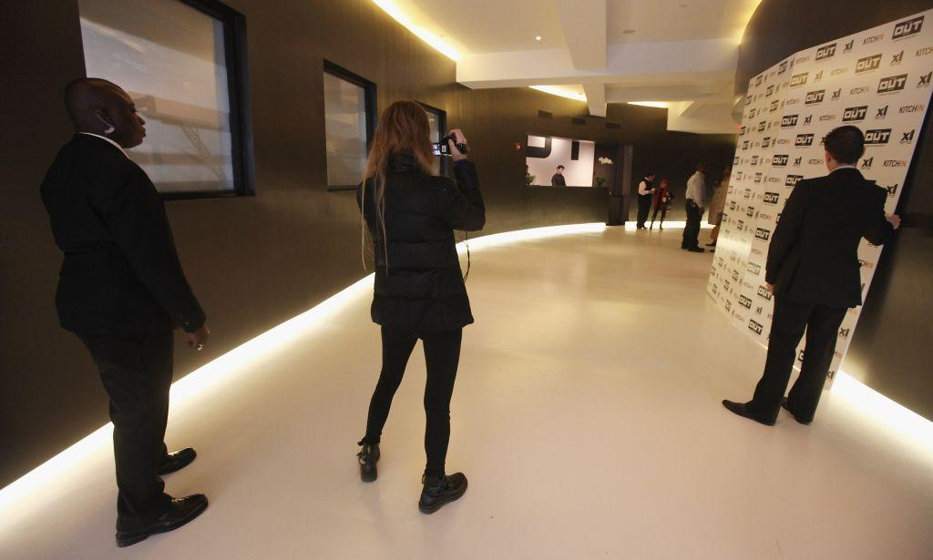 Visitors tour New York City's first gay hotel, THE OUT NYC, in midtown Manhattan. The hotel opened in March.