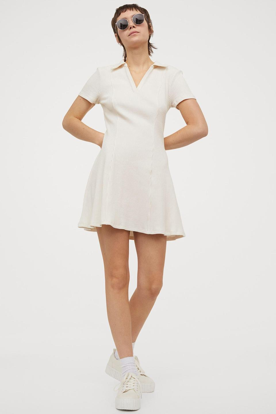 <p>Achieve the perfect sporty chic look when you pair this <span>Ribbed Jersey Dress</span> ($25) with your favorite comfortable sneakers.</p>
