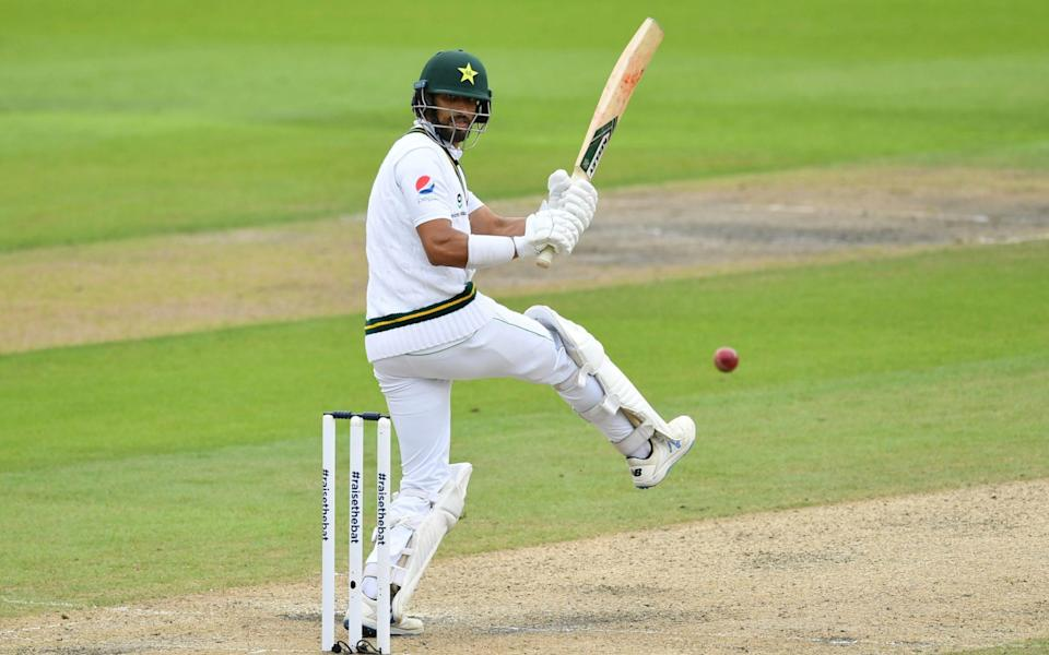 Pakistan's Shan Masood plays a shot - GETTY Images