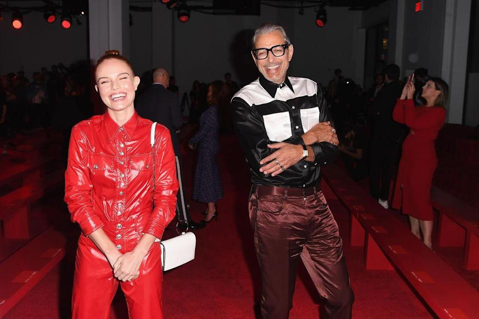 <p>Kate Bosworth and Jeff Goldblum attend the Calvin Klein collection Spring 2019 show during New York Fashion Week at the New York Stock Exchange on September 11, 2018 in New York City. (Photo: Nicholas Hunt/Getty Images) </p>