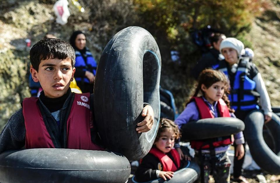 More than four million Syrians have fled their country and Filippo Grandi will ask the international community to take in 10 percent (AFP Photo/Bulent Kilic)