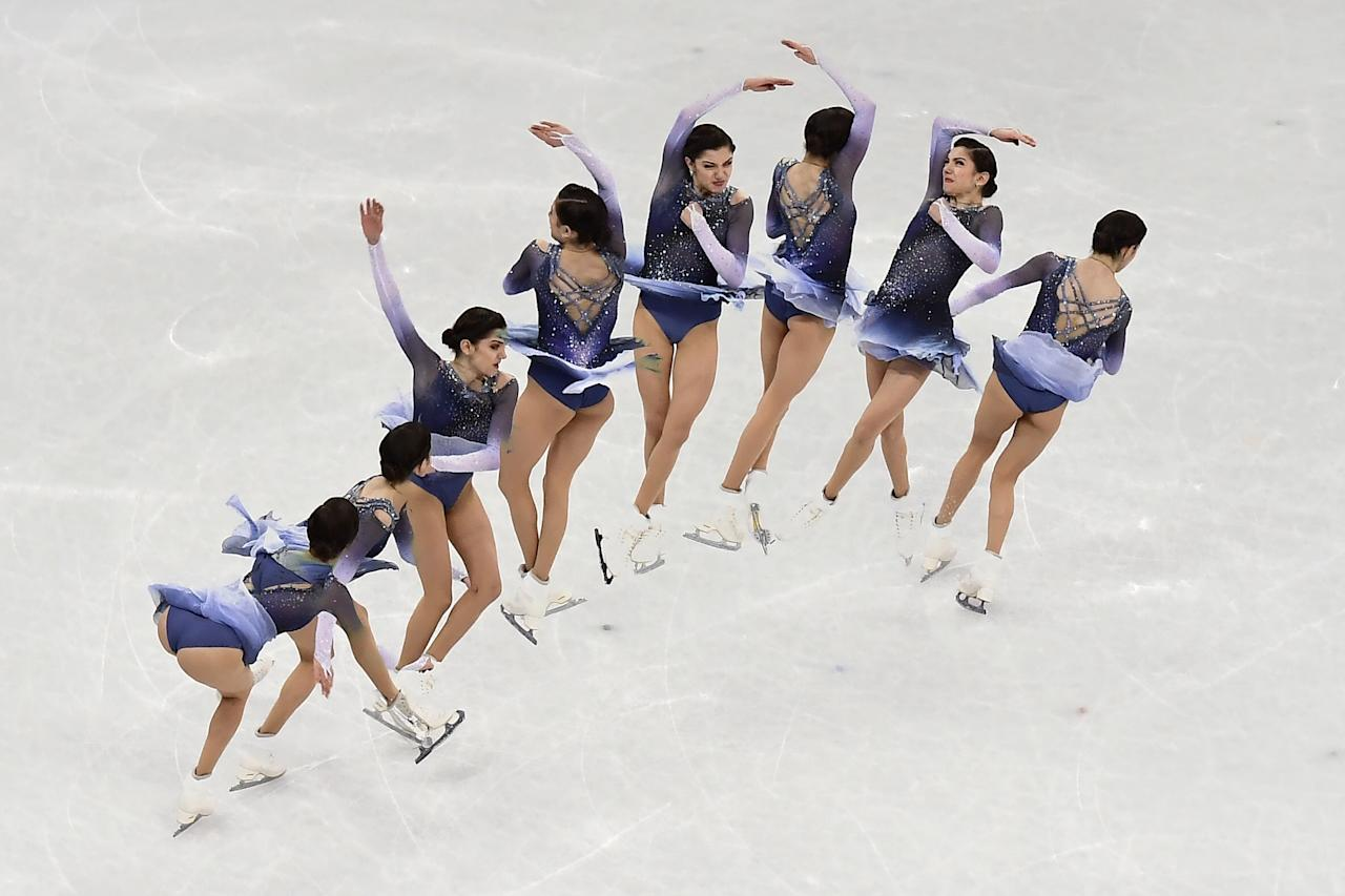 "<p>In order to accomplish those insane jumps without getting dizzy, figure skaters have to reprogram their brains. It's a pretty complicated process that is explained in this <a rel=""nofollow"" href=""https://www.scientificamerican.com/article/why-don-t-figure-skaters-get-dizzy-when-they-spin/"">Scientific American article</a>. </p>"
