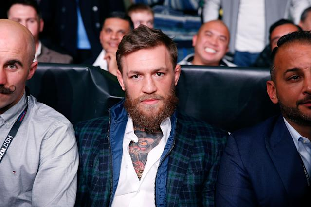 Conor McGregor faces up to six years in jail. (AP Photo/Michael Dwyer)