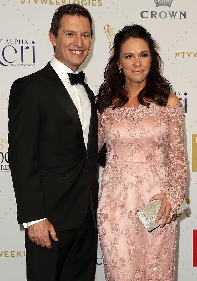 Rove and second wife Tasma in 2016. Source: Getty