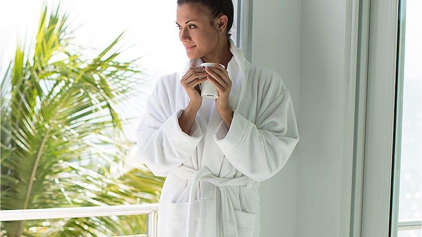 Swathe yourself in this luxurious bath robe.